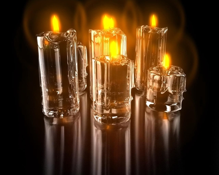 candles - cg, candle, art, 3d