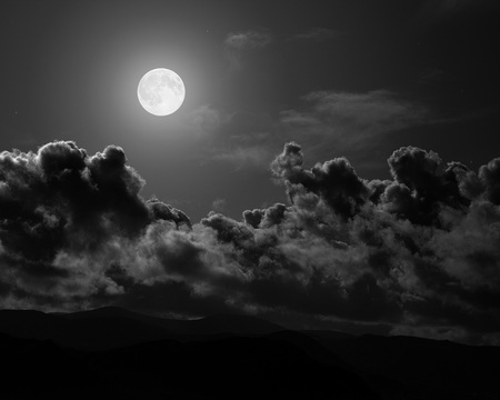 moon - clouds, sky, moon, night, dark, black