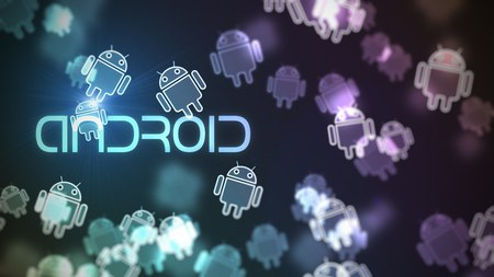 Android - icon, android, blue, purple, logo, droid