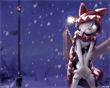 christmas furry cool christmas snow cat night hat - Christmas Furry