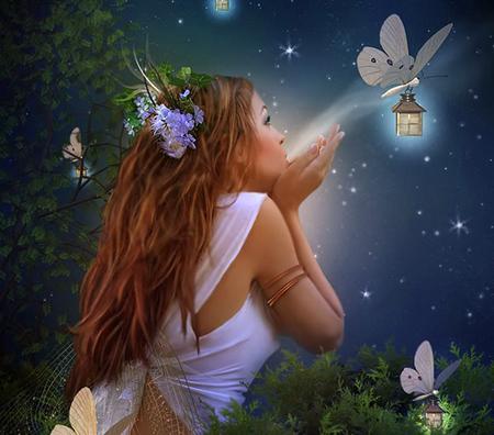 Fairy - fantasy, light, fairy, girl