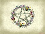 Wiccan Floral Wreath