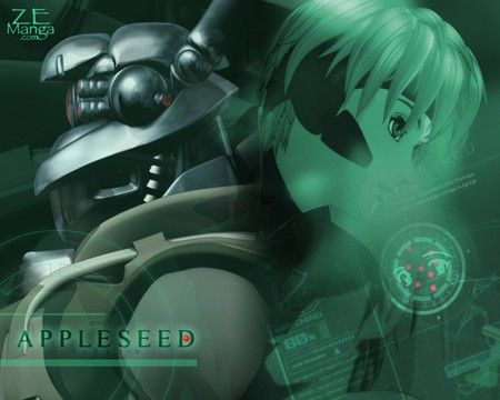 Appleseed - briareos, cool, green, appleseed, deunan