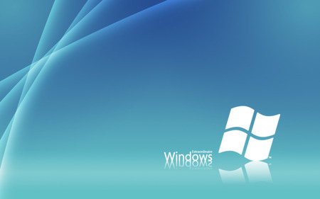 blue white win7 theme - windows, microsoft, seven, system, silver, blue