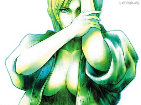 parasite eve in green - parasite, game, green, eve, video