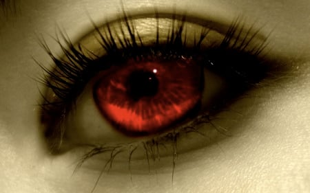 red eye - red, eye, dark