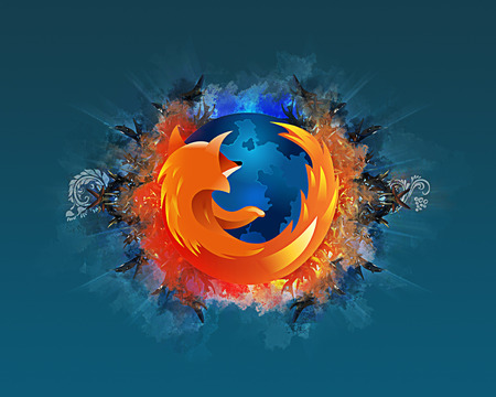 Abstract Firefox - fire, firefox, fox, blue