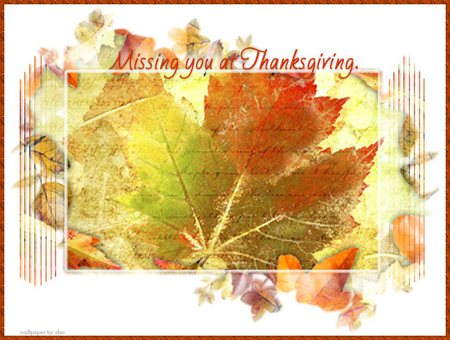 Missing You At Thanksgiving 3d And Cg Abstract Background Wallpapers On Desktop Nexus Image 500234