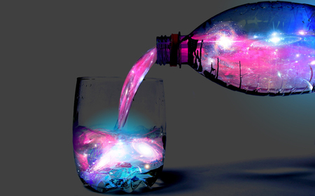 abstract - glass, color, background, bottle