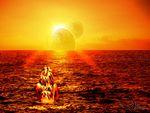 OCEAN UNDER DOUBLE SUN....