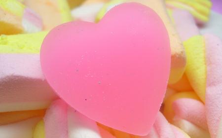 Pink Heart - pink heart, abstract, heart, love