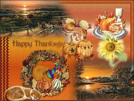Thanksgiving in oklahoma 3d and cg abstract background - Thanksgiving day wallpaper 3d ...