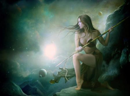 Warrior - fantasy, girl, rocks, warrior