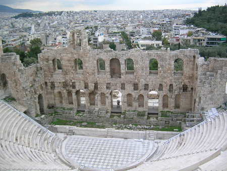 Greece - anchient, acropolis, herodion, theater