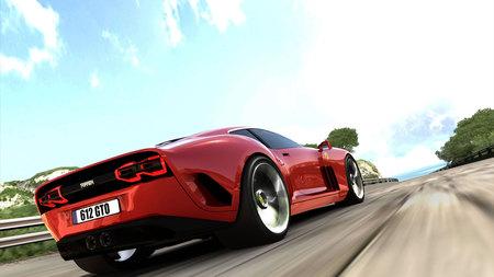 Red Ferrari - car, road, red, ferrari