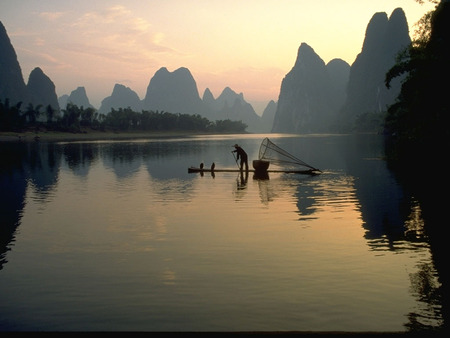 asian landscape lakes nature background wallpapers on desktop
