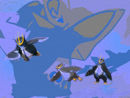 Empoleon, Brave Emperor - emperor, penguin, pokemon, empoleon