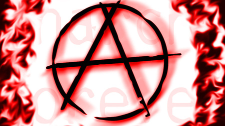 Anarchy symbol - cool, alphabet, anarchy, red