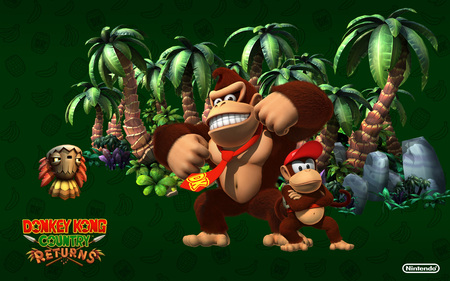 Donkey Kong Country Country Returns Wallpaper 4 - video games, diddy kong, donkey kong, nintendo