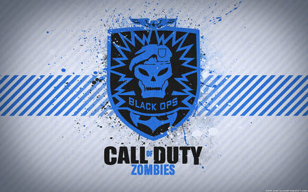 Call of Duty: Black Ops Zombies - white, xbox 360, level, awesome, blood, treyarch, pc, activision, computer, playstation, eagle, cool, black, soldier, xbox, cod, patch, black ops, emblem, wii, zombies, skull, blue, game, nice, fantastic, fps, 360, console, company, confirmed, call of duty black ops, playstation 3, survive, tag