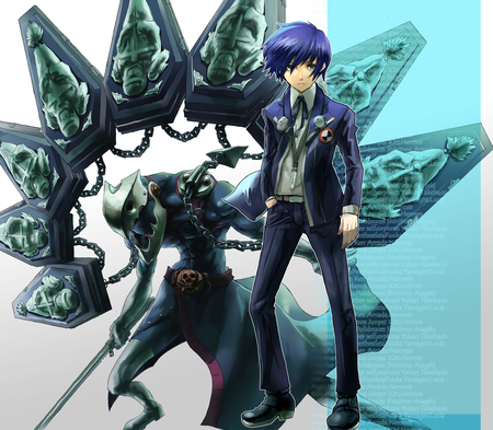 Persona 3 Minato Thanatos Other Video Games Background
