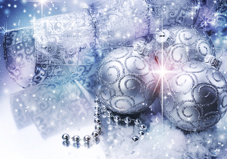 Christmas balls - beautiful, magic, photography, ball, nice, fantasy, beauty, blue, lovely, holiday, christmas, new year, happy new year, winter, merry christmas, balls, shining, white