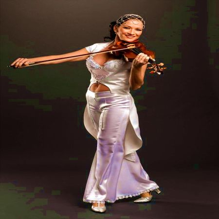 MUSIC OF VIOLINE - playing, white, music, play, dress, elegant, violine, woman, saten