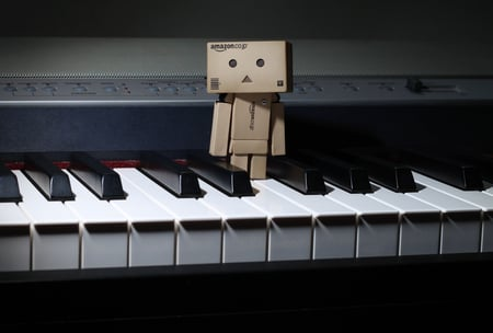 Danbo On The Piano 3d And Cg Abstract Background Wallpapers On Desktop Nexus Image 506093