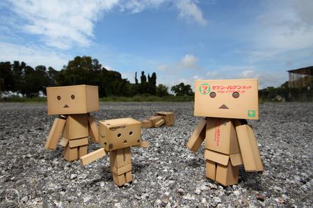 Danbo Family - danbo, family, robots, box