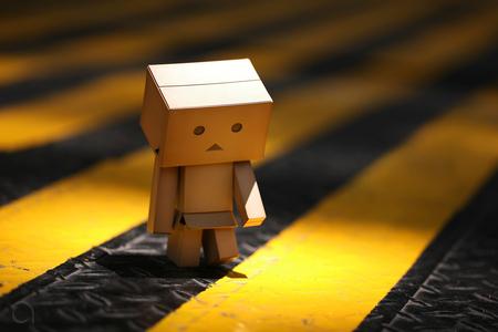 Alone Danbo - danbo, sad, robot, cute