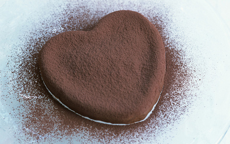 Chocolate heart - delicious, heart, sweet, romantic, photography, chocolate, cute, nice