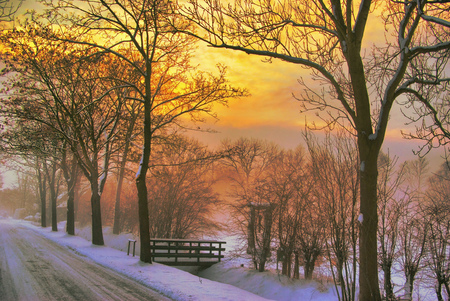 Winter Morning Winter Nature Background Wallpapers On Desktop