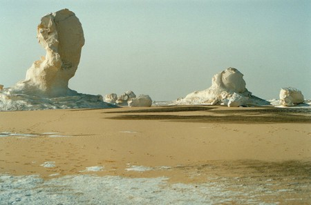 White Desert Egypt - cream, formation, arid, sand, chalk, formations