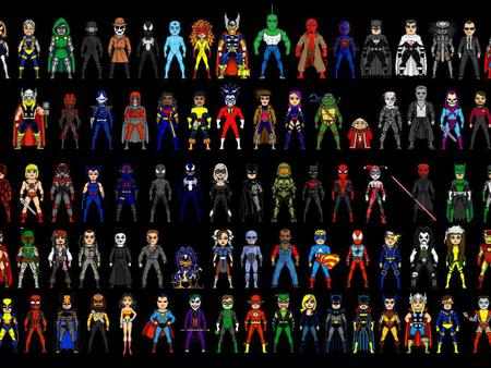 Super Heroes and Villain - marvel, super, comic, hero, dc, villain