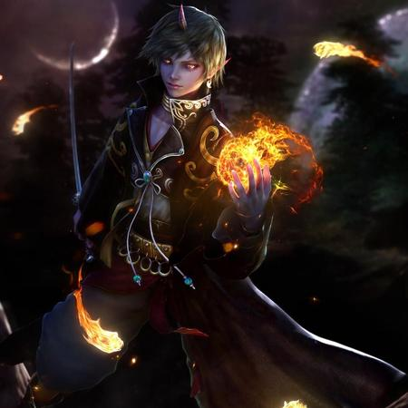 Fire In The Hand - art, game, fantasy