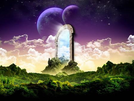 Awesome Fantasy Door To Heaven   Fantasy, Moon, Grass, Heaven, Sky, Door