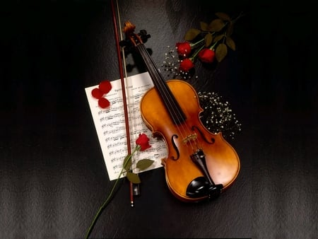 ROMANTIC LOVE NOTES - dedications, violin, romntic, symbol, notes, love, roses