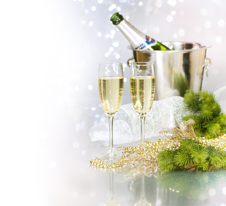 Happy New Year - holiday, cool, champagne, nice, beautiful, glasses, merry christmas, happy new year