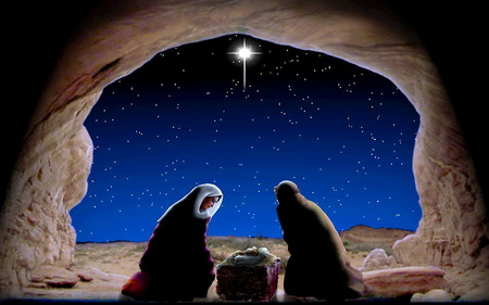 Christmas Jesus Wallpaper.Very First Christmas 3d And Cg Abstract Background