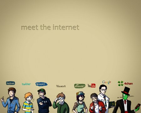 The Internet - tumblar, facebook, webmd, twitter, 4chan, wikipedia, youtube, internet, myspace