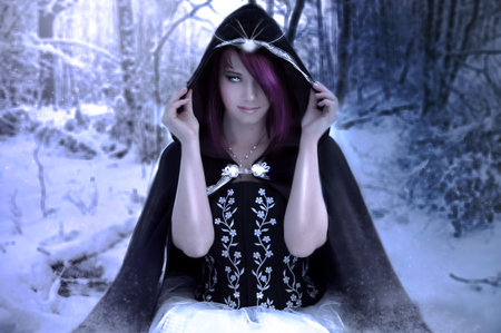 Winter queen - fantasy, queen, winter, girl