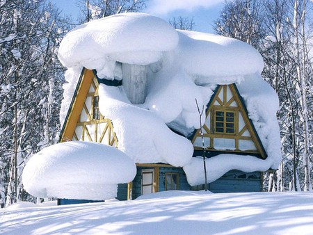 snow house for Anne - house, snow, white, winter, canada