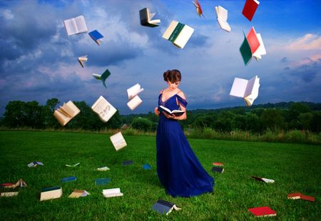 Reading A Books Photography Abstract Background