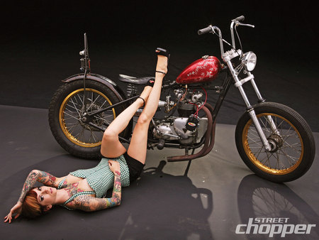 1971 Triumph - bike, floor, triumph, model