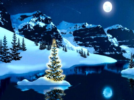 Christmas In Colorado Mountains.Colorado Christmas Mountains Nature Background