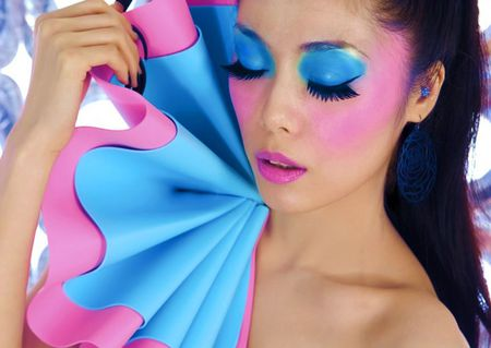 MAGICAL  MAKEUP - model, woman, blue, magical, pink, pretty, makeup, lashes