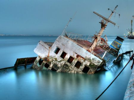 Forgettable Steel - ships, sunken, dockyard, old, wreck, wrecks, remains, boats, water, ship, ship wreck