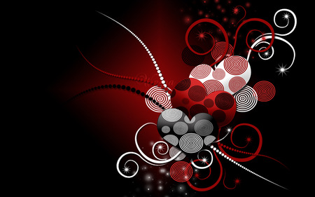 Hearts For You - hearts, abstract, 3d art, heart, love