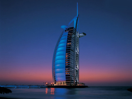 Burj Al Arab Hotel Dubai Modern Architecture Background