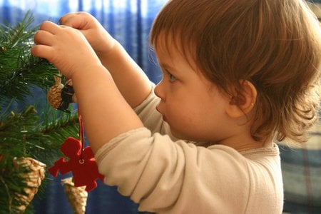 Christmas-decoration - children, christmas, photography, abstract, funny, christmas-decoration, cute, christmas-tree, kid